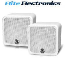 Pyle Home PCB4WT 200W 4 inch Mini Cube Bookshelf Speaker - White