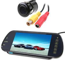 "7"" MP5 Bluetooth Car Rear View Mirror Monitor+420TVL Car Reverse Backup Camera"
