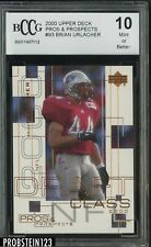 2000 Upper Deck Pros & Prospects #93 Brian Urlacher Bears RC HOF /1000 BCCG 10