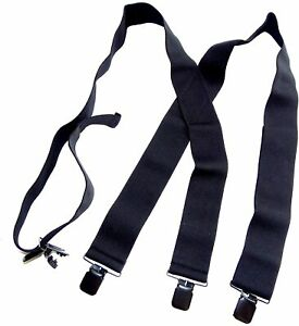 "2"" Wide Black Undergarment Hidden Suspenders with/Patented Black"