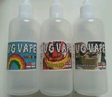 VG VAPE - 3x 100ml Bottles - 94 Flavours - SUPER PREMIUM Eliquid - 70/30 - 0,3,6