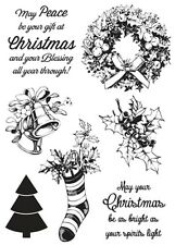 Kaisercraft - clear cling stamps - Silent Night Christmas stamps - 7 stamps