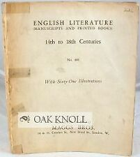 446 / English Literature Manuscripts And Printed Books 14Th To The 18Th 1924