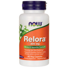 Now Foods, Relora 300 mg, 60 Veg Capsules Appetite Control & Stress Relief.