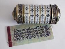 Cryptex El Código Da Vinci con pergamino secreto en su interior. 10 cms
