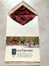 Vintage Greeting Card Christmas Art Deco 1920s Carriage New