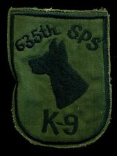 USAF 635th Security Police SQ K-9 Thailand Vietnam Patch S-9
