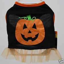 Halloween Grreat Choice Black Orange Pumpkin Pet Dog Tutu Dress Size Small NWT