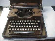 Vintage Brown Royal Model P262824 Portable Typewriter and Original Case  C