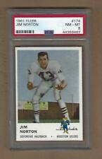 1961  FLEER   FOOTBALL   JIM  NORTON  #  174   PSA   8