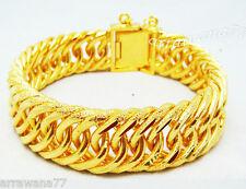 Classic 22K 23K 24K THAI BAHT YELLOW Gold Plated  Bracelet 8 inch  55 Grams B81