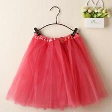 Women Ballet Tutu Dance Skirt Layered Organza Lace Elastic Wristband Skirt CA