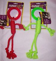 NEW Multipet Nuts for Knots Rope Man Dog Pet Toy (colors vary)