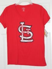 St. Louis Logo Red Women's T-Shirt Size L