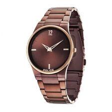 Police Horizon Men's Quartz Watch Brown Dial Analogue Display Rose Gold A01d