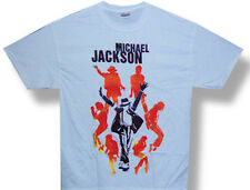 Michael Jackson-Dance Poses Collage-Large  White  T-shirt