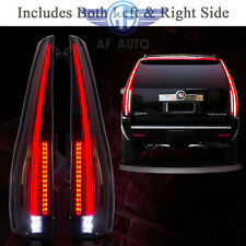 For 2007-2014 Cadillac Escalade ESV Smoked Tail Lights Assembly Rear Lamp