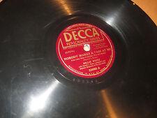78RPM Decca (Political Union) Millie Weitz, Nobody Makes Pass at Me /1 Big U VV+