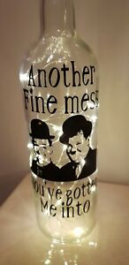 Laurel & Hardy Led Light Up Bottle Another Fine Mess You've Gotten Me Into boxed