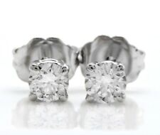 .40 Carat Natural VS2 Diamonds in 14K Solid White Gold Stud Earrings