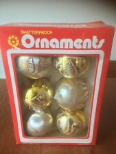 1970's Retro Swan Christmas Tree Baubles Boxed - Shatterproof Made In Wales (B7)