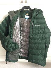 Men Columbia Jacket Omni-Heat  Thermal Down Filled Warm Winter Size XXL Green..