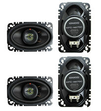 "4) New Kenwood KFC-4675C 4x6"" 120 Watt 2-Way Car Audio Speakers System Stereo"