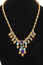 Vintage Signed HOBE Egyptian Revival Necklace and Earring Set
