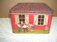 Little Red School House Tin Box 1989 SERIES 1 TINSCAPES 1989