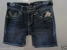 VIGOSS  DARK WASH JEANS  short  VCC-S6625A SIZE 25  new nwt