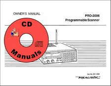 Realistic Hyperscan PRO-2006 CD OWNER'S MANUAL 20-145A Radio Scanner CD ONLY