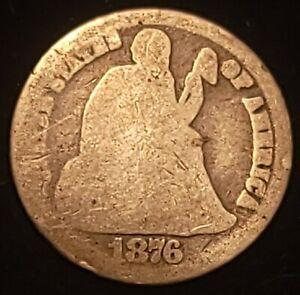 1876-Carson City Liberty Seated Dime DDO FS102
