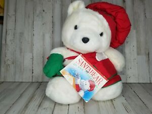 """1991 Dayton Hudson """"Baker With Cookie Cutter & Book"""" Santa Bear with Bag READ"""