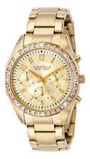 Caravelle New York 44L151 Crystal Bezel Stainless Steel Quartz Women's Watch