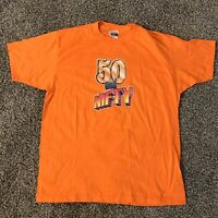 Vintage Hanes Single Stitch 50 and Nifty T-Shirt Men's Size XL