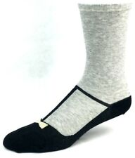 Hot Sox Gray and Black Suit Design Ballet Shoe Crew Socks