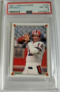 Jim Kelly 1987 Topps Stickers PSA 8 Rookie RC