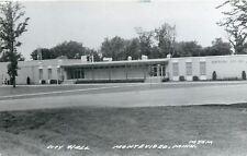 Montevideo Minnesota~Telephone Booth @ City Hall Edge~Real Photo Postcard c1950