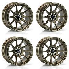 """Ultralite UL11 15"""" x 8J ET0 4x100 4x108 bronze Concave alloy wheels set Y3516"""