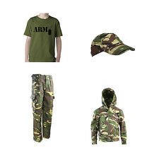 Kids Pack O Dress Up Walking Outdoor MTP/DPM Hoodie Cap Trousers ARMY T-shirt
