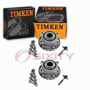 2 pc Timken Front Wheel Bearing Hub Assembly for 1999-2006 Volvo S80 ll