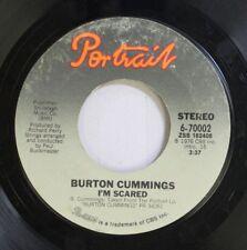 Rock 45 Burton Cummings - I'M Scared / Sugartime Flashback Joys On Portrait