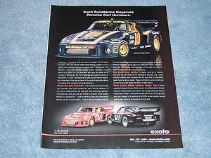 """2006 Exoto 1:18 Scale 1979 Porsche 935 Die Cast Ad """"Such Excellence """""""