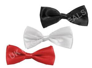 New Pre Tied Satin Dicky Bow Tie Fancy Dress Mens Ladies Halloween Dickie Bowtie
