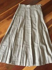 Sussan Beige Retro Pleated Skirt - Size 8
