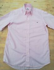 "Mens LACOSTE shirt Small chest 38"" short sleeves 100% cotton chest pocket button"