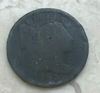 1795 Liberty Cap Large Cent - Lettered Edge - Scarce - Damaged Reverse