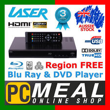 LASER BD2000 Multi Region Blu-Ray DVD Player 1080P HDMI USB DTS/Dolby Media