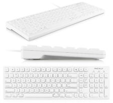 MACALLY MKEYE 103 KEY FULL SIZE USB KEYBOARD FOR MAC/PC DESKTOP/LAPTOP
