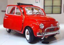 LGB G scala 1:24 FIAT 500 LUSSO 500L MODELLO ROSSO AUTO dettagliato Burago